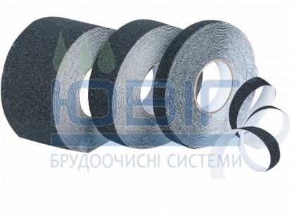 Антискользящая лента грубой зернистости, черная, погонный метр фото