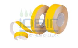 Антискользящая лента грубой зернистости, желтая, погонный метр фото